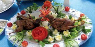 Canh khoai tím thịt băm