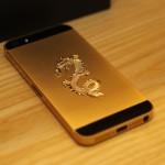 iPhone 5 mắt kim cương thân mạ vàng