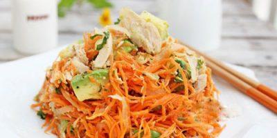 Chế biến salad cà rốt