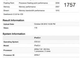 iPad 4 mạnh gấp đôi iPad 3