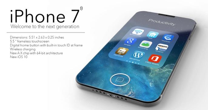 Bản dựng mô hình iPhone 7 mang diện mạo hoàn toàn mới với ROM 32GB.