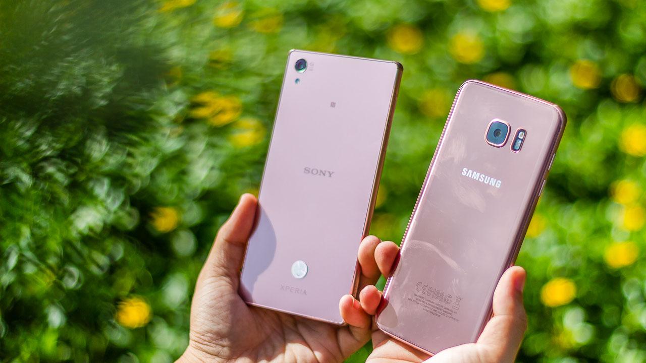 """Galaxy S7 Edge và Z5 Premium sắc hồng """"sexy"""""""