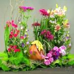 Trang trí nhà bằng tiểu cảnh vườn hoa mini tươi đẹp