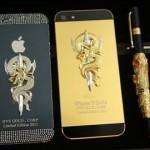 Điện thoại iPhone 5 mạ vàng, đúc rắn hổ chúa chỉ dành cho nhà giàu